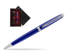 Waterman Hemisphere 2018 Bright Blue Ballpoint pen  single wooden box  Black Single Maroon