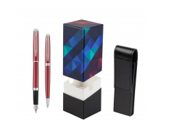 Waterman Fountain Pen + Ballpoint Pen 2018 Coral Pink CT in gift box  StandUP Kaleidoscope