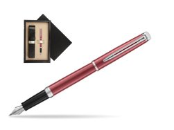 Waterman Hemisphere 2018 Coral Pink CT Fountain Pen  single wooden box  Wenge Single Ecru