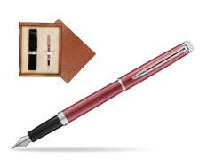 Waterman Hemisphere 2018 Coral Pink CT Fountain Pen in single wooden box  Mahogany Single Ecru
