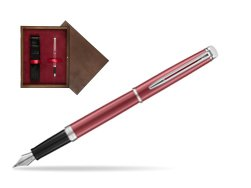 Waterman Hemisphere 2018 Coral Pink CT Fountain Pen in single wooden box  Wenge Single Maroon