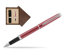 Waterman Hemisphere 2018 Coral Pink CT Fountain Pen in single wooden box  Wenge Single Ecru