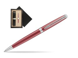 Waterman Hemisphere 2018 Coral Pink CT Ballpoint pen  single wooden box  Wenge Single Ecru