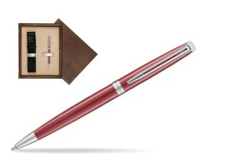 Waterman Hemisphere 2018 Coral Pink CT Ballpoint pen in single wooden box  Wenge Single Ecru