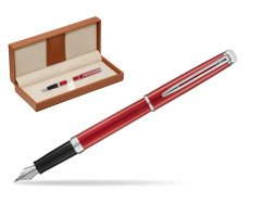 Waterman Hemisphere 2018 Comet Red CT Fountain Pen.  in classic box brown
