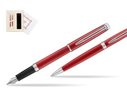 "Waterman Fountain Pen + Ballpoint Pen 2018 Comet Red CT in Gift Box ""Pure Love"""