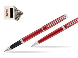 Waterman Fountain Pen + Ballpoint Pen 2018 Comet Red CT in Standard Gift Box