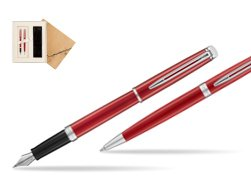Waterman Fountain Pen + Ballpoint Pen 2018 Comet Red CT in Standard 2 Gift Box