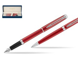 Waterman Fountain Pen + Ballpoint Pen 2018 Comet Red CT
