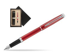 Waterman Hemisphere 2018 Comet Red CT Fountain Pen.  single wooden box  Wenge Single Ecru