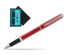 Waterman Hemisphere 2018 Comet Red CT Fountain Pen.  single wooden box  Black Single Turquoise