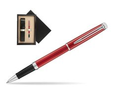 Waterman Hemisphere 2018 Comet Red CT Rollerball Pen  single wooden box  Wenge Single Ecru