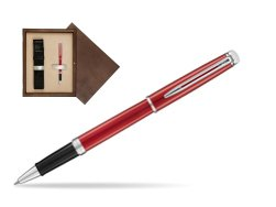 Waterman Hemisphere 2018 Comet Red CT Rollerball Pen in single wooden box  Wenge Single Ecru