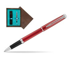 Waterman Hemisphere 2018 Comet Red CT Rollerball Pen in single wooden box  Wenge Single Turquoise