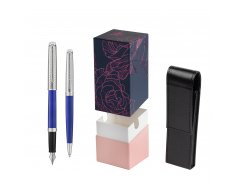 Waterman Fountain Pen + Ballpoint Pen 2018 Deluxe Blue Wave CT in gift box  StandUP Roses