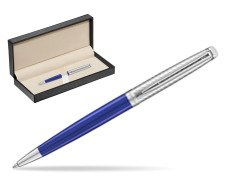 Waterman Hemisphere 2018 Deluxe Blue Wave CT Ballpoint pen  in classic box  pure black