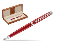 Waterman Hemisphere 2018 Comet Red CT Ballpoint pen  in classic box brown