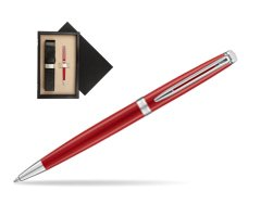 Waterman Hemisphere 2018 Comet Red CT Ballpoint pen  single wooden box  Wenge Single Ecru