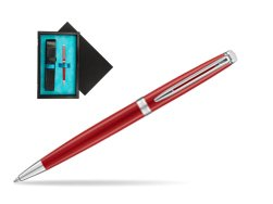 Waterman Hemisphere 2018 Comet Red CT Ballpoint pen  single wooden box  Black Single Turquoise