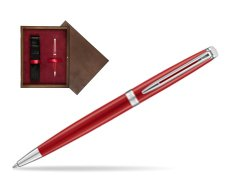 Waterman Hemisphere 2018 Comet Red CT Ballpoint pen in single wooden box  Wenge Single Maroon