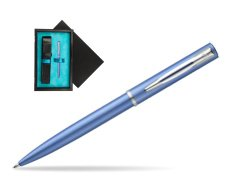 Waterman Allure blue CT Ballpoint Pen   single wooden box  Black Single Turquoise