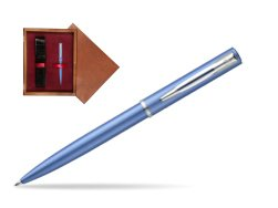 Waterman Allure blue CT Ballpoint Pen  in single wooden box Mahogany Single Maroon