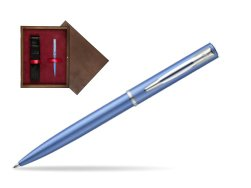 Waterman Allure blue CT Ballpoint Pen  in single wooden box  Wenge Single Maroon