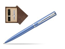 Waterman Allure blue CT Ballpoint Pen  in single wooden box  Wenge Single Ecru