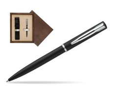 Waterman Allure muted black CT Ballpoint Pen in single wooden box  Wenge Single Ecru