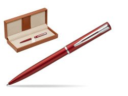 Waterman Allure red CT Ballpoint Pen  in classic box brown