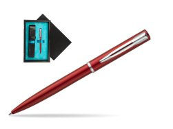 Waterman Allure red CT Ballpoint Pen  single wooden box  Black Single Turquoise