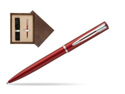 Waterman Allure red CT Ballpoint Pen in single wooden box  Wenge Single Ecru