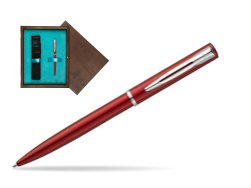 Waterman Allure red CT Ballpoint Pen in single wooden box  Wenge Single Turquoise