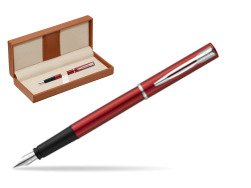 Waterman Allure red Fountain Pen   in classic box brown
