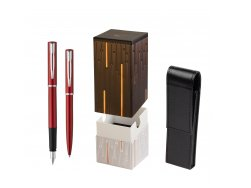 Waterman Fountain Pen + Ballpoint Pen Allure red CT in gift box  StandUP Matrix