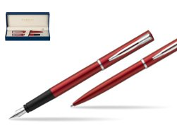 Waterman Fountain Pen + Ballpoint Pen Allure red CT