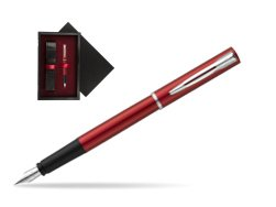 Waterman Allure red Fountain Pen   single wooden box  Black Single Maroon