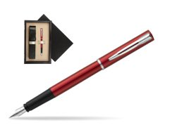 Waterman Allure red Fountain Pen   single wooden box  Wenge Single Ecru