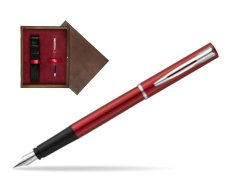 Waterman Allure red Fountain Pen  in single wooden box  Wenge Single Maroon
