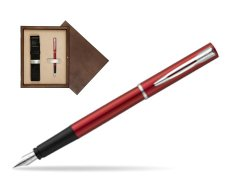 Waterman Allure red Fountain Pen  in single wooden box  Wenge Single Ecru