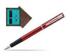 Waterman Allure red Fountain Pen  in single wooden box  Wenge Single Turquoise