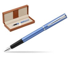 Waterman Allure blue Fountain Pen   in classic box brown