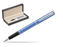 Waterman Allure blue Fountain Pen   in classic box  pure black