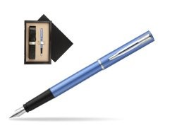 Waterman Allure blue Fountain Pen   single wooden box  Wenge Single Ecru