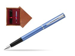Waterman Allure blue Fountain Pen  in single wooden box Mahogany Single Maroon