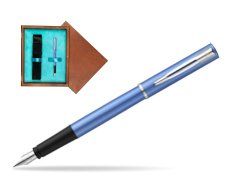 Waterman Allure blue Fountain Pen  in single wooden box  Mahogany Single Turquoise