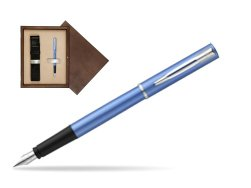 Waterman Allure blue Fountain Pen  in single wooden box  Wenge Single Ecru