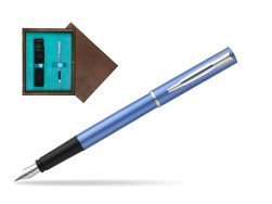 Waterman Allure blue Fountain Pen  in single wooden box  Wenge Single Turquoise