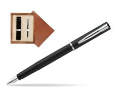 Waterman Allure black mat CT Fountain Pen  in single wooden box  Mahogany Single Ecru
