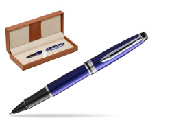 Waterman Expert Deep Blue RollerBall pen  in classic box brown